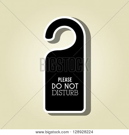 do not disturb design, vector illustration eps10 graphic