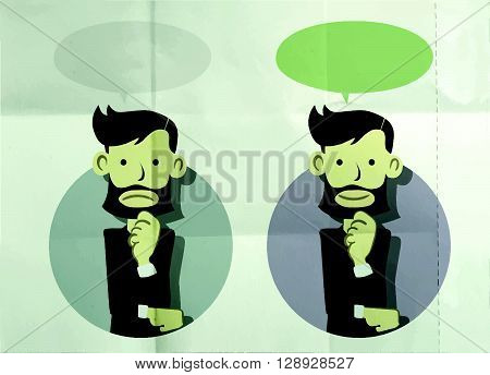 Businessman Standing And Thinking