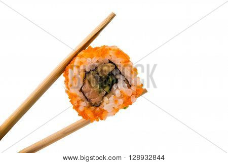 sushi isolated on white backgroundi, meal, meat,