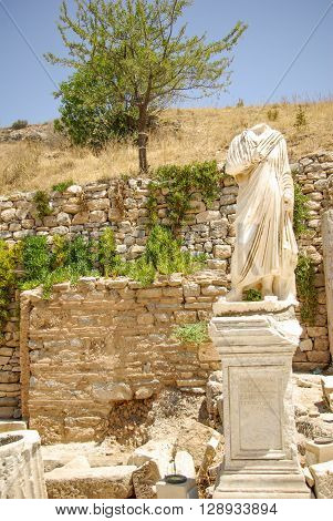 Ruins of the Ancient city of Ephesus in Turkey