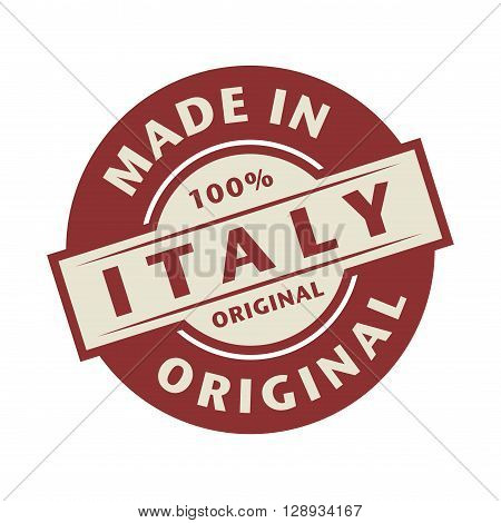 Abstract stamp or label with the text Made in Italy written inside, vector illustration