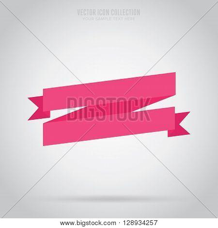 Flat vector ribbon. Design ribbon. Blank badge. Abstract ribbon template. Retail ribbon. Web sticker. Blank ribbon. Isolated ribbon. Colorful ribbon. Badge ribbon. Ribbon icon. Blank label. Graphic element. Blank banner ribbon. Origami ribbon.