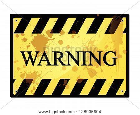 warning sign vector illustration art on white