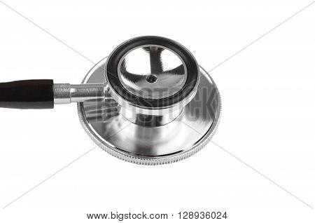 Medical stethoscope (phonendoscope) isolated on white background