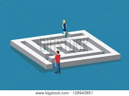 Various ways. Solving problems. Flat isometric vector illustration
