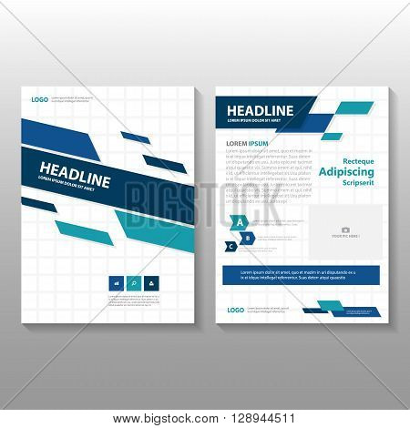 Blue Vector Business proposal Leaflet Brochure Flyer template design, book cover layout design