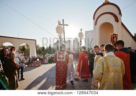 Lviv, Ukraine - April 27, 2016: Holy Week Passion And Death Of Jesus Christ.