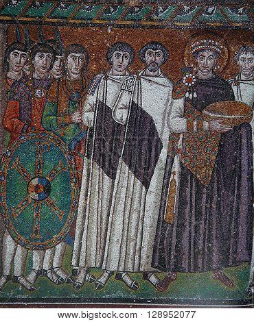 Mosaic In The Basilica Of San Vitale, Ravenna, Italy