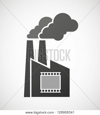 Isolated Industrial Factory Icon With   A Photographic 35Mm Film Strip