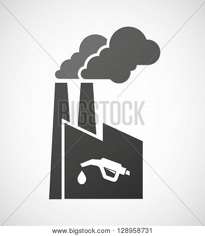 Isolated Industrial Factory Icon With  A Gas Hose Icon