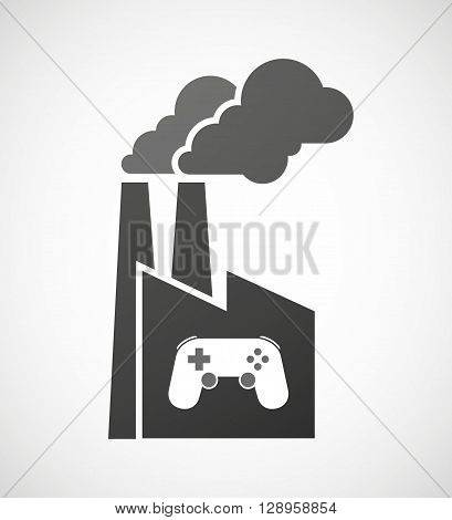 Isolated Industrial Factory Icon With  A Game Pad