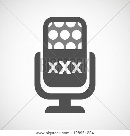 Isolated Mic Icon With  A Xxx Letter Icon