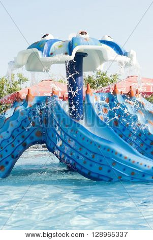 A Children Slide At A Water Park