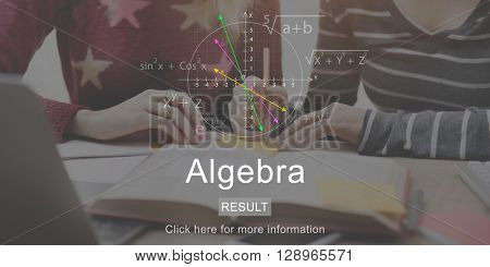 Algebra Mathematics Subject School Concept