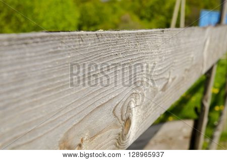 Wooden fence background. Bright wooden border with focus on details