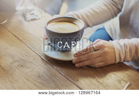 Cafe Culture Cafeteria Food and Beverage Restaurant Service Concept