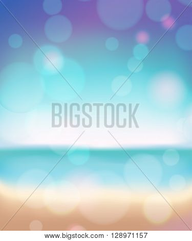 Summer beach abstract background. Bokeh effect and blurred view