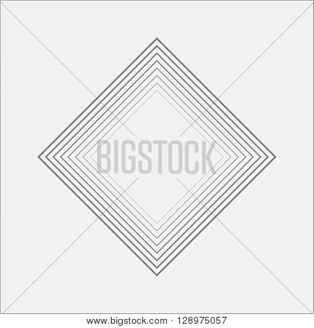 Inside Ripple Rhombus Canvas Minimal Art Odd Design