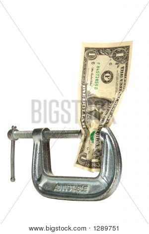 Cash Squeeze Dollar Bill in Adjustable Clamp