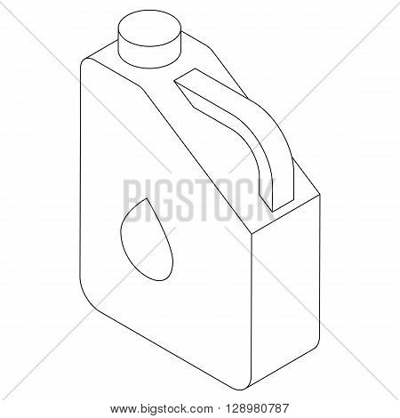 Jerry can of petrol or oil icon in isometric 3d style isolated on white background