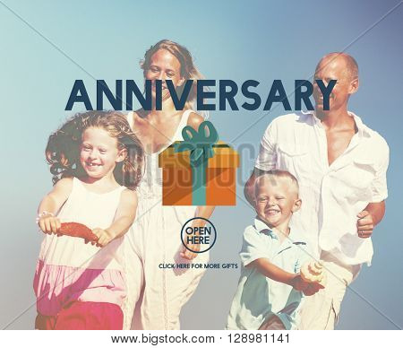 Anniversary Celebrate Annual Enjoy Event Memory Concept