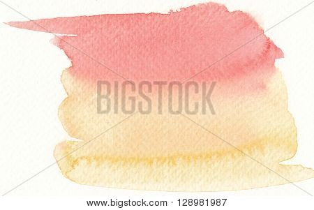 colorful watercolor brushstroke background in hot colors tones