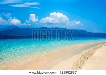 Beautiful tropical beach and sea . vacation. recreation