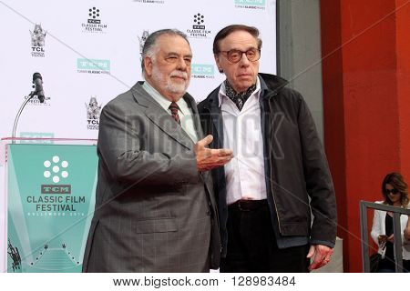 LOS ANGELES - APR 29:  Francis Ford Coppola, Peter Bogdanovich at the Francis Ford Coppola Hand and Foot Print Ceremony at the TCL Chinese Theater IMAX on April 29, 2016 in Los Angeles, CA