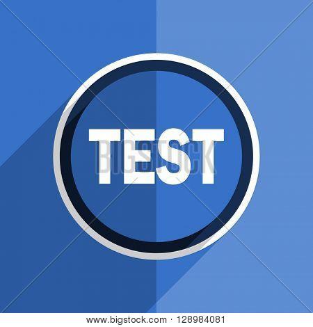 flat design blue test web modern icon