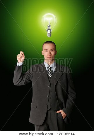 Businessman Turn On The Light