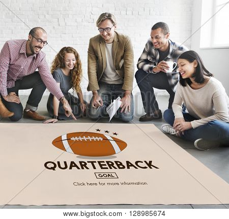 Quarterback American Football Athlete Game Concept