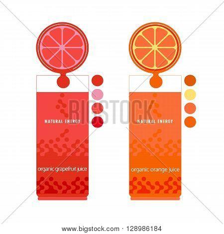 Citrus Fruits. Sliced lemon lime orange grapefruit leaves. Fresh lemon wedges Concept. Organic natural fruit. Tropical citrus. Natural fruit with vitamin for juice dessert. Vector Illustration
