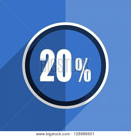 flat design blue 20 percent web modern icon