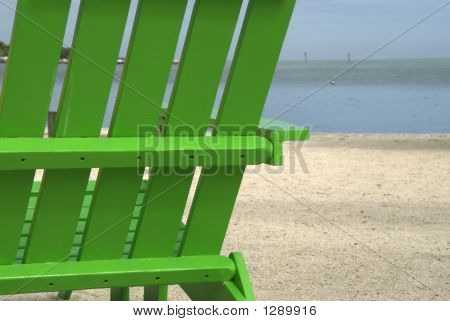 Green Beach Chair 2