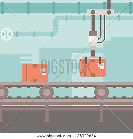 Background of conveyor belt.
