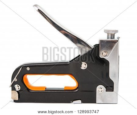 Large tacker or stapler for bigger amounts of paper isolated on white background