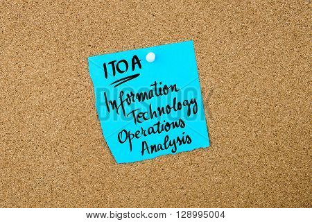 Business Acronym Itoa Information Technology Operations Analysis