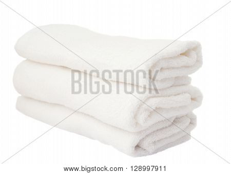 white towels on a white background, thick, towel, treatment,