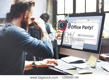 Office Party Business Commercial Entertainment Concept