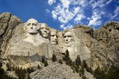 Presidential sculpture at Mount Rushmore National Monument, South Dakota.