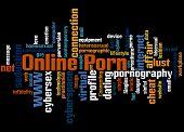 Online Porn, Word Cloud Concept 4 poster