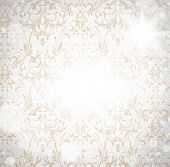 Постер, плакат: Бесшовные обои шаблон белый