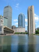 stock photo of prudential center  - a view of the christian science center boston - JPG