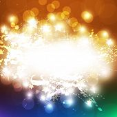 pic of new years celebration  - New Years card with back light and place for your text - JPG