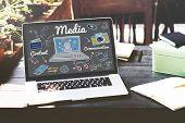 Media Multimedia Social Media Online Concept poster