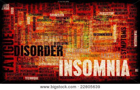 Slapeloosheid een Concept stoornis slaap in Grunge