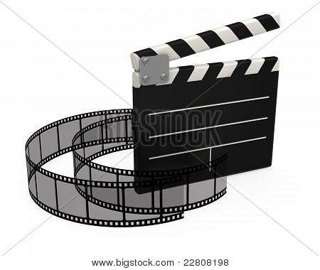 3d movie clapper board