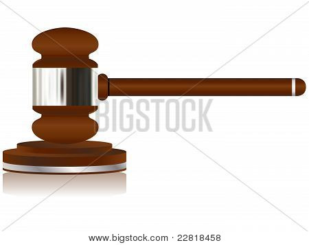 Wooden Justice Gavel