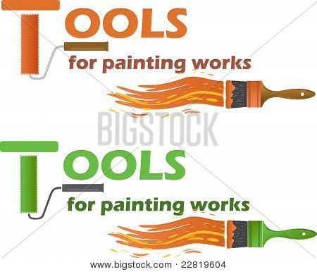 Tools for painting works