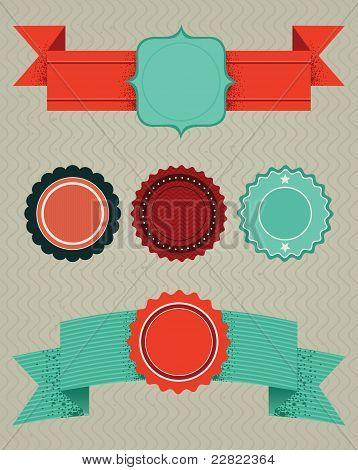 set of retro design elements